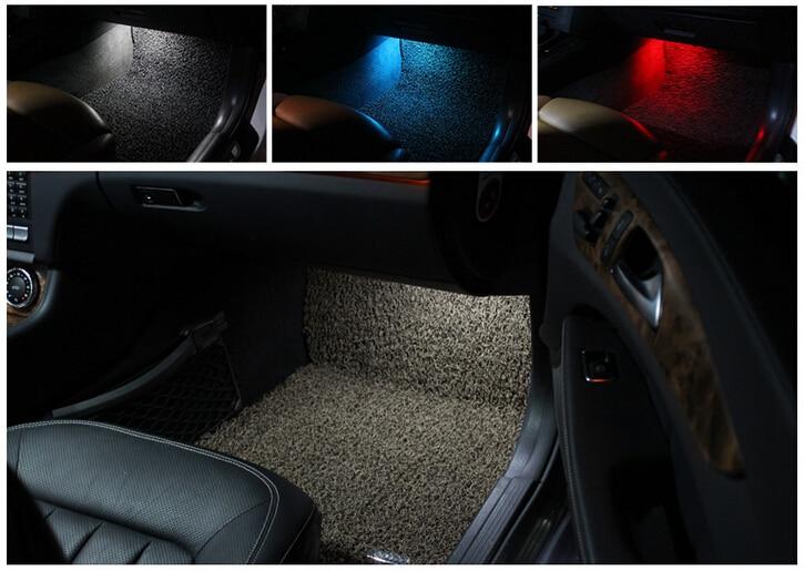 X Error Free LED Front Footwell lights for Mercedes w176 w246 w166 x166 w221 w212 w204 w205 w218 cla gla