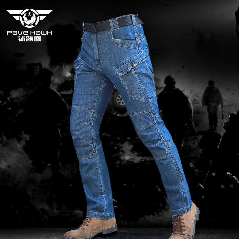 New IX7 SWAT Military Army Pant Men Elastic Camping Hiking Huning Motorcycle Denim Biker Stretch Tactical Combat Trousers ix7 urban tactical cargo pants men outdoor sports swat force training multi pockets trousers overalls cotton military army pant