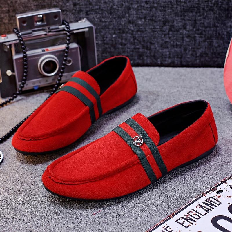Hot Sale fashion Men Light Flats Shoes Man Casual Boat Peas shoe Chaussure Homme Men Male Shoe Non-Slip Outdoor Shoes