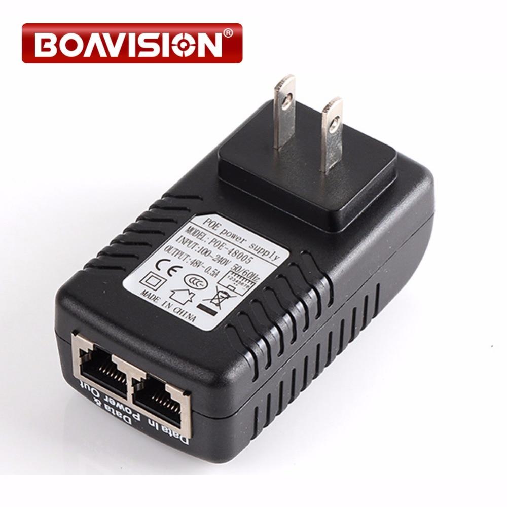 48V 0.5A 500MA POE Injector 48V Power Over Ethernet Power Supply US/EU Plug Lan Port Power With LED полотенцесушитель водяной двин i5