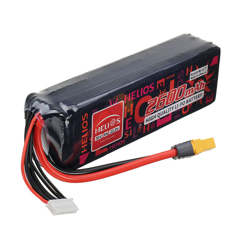 Hot New Helios 22.2V 2600mAh 6S 50C XT60 Plug Rechargeable Lipo Battery For RC Helicopter Quadcopters RC Drone Spare Parts new battery for trimble gps juno sb sa sc sd battery 3 7v 2600mah