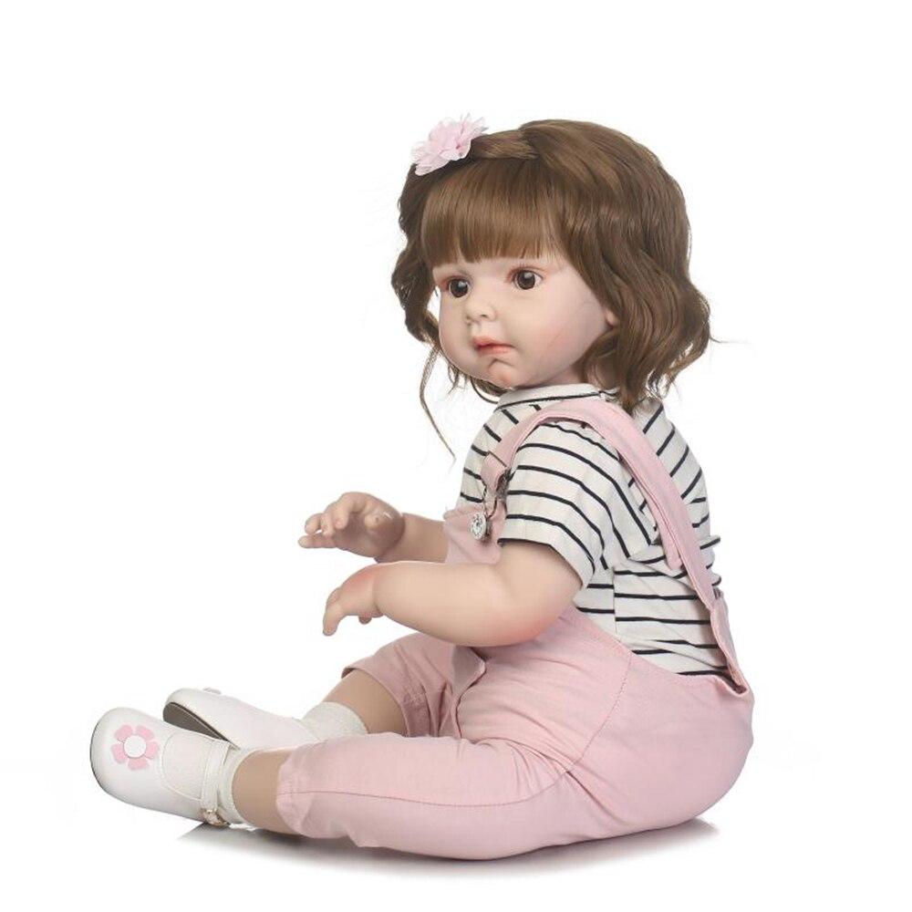 27in bébé renaissance poupée enfants corps réaliste à la main en silicone souple bébé poupées noël surprise cadeaux lol jouet