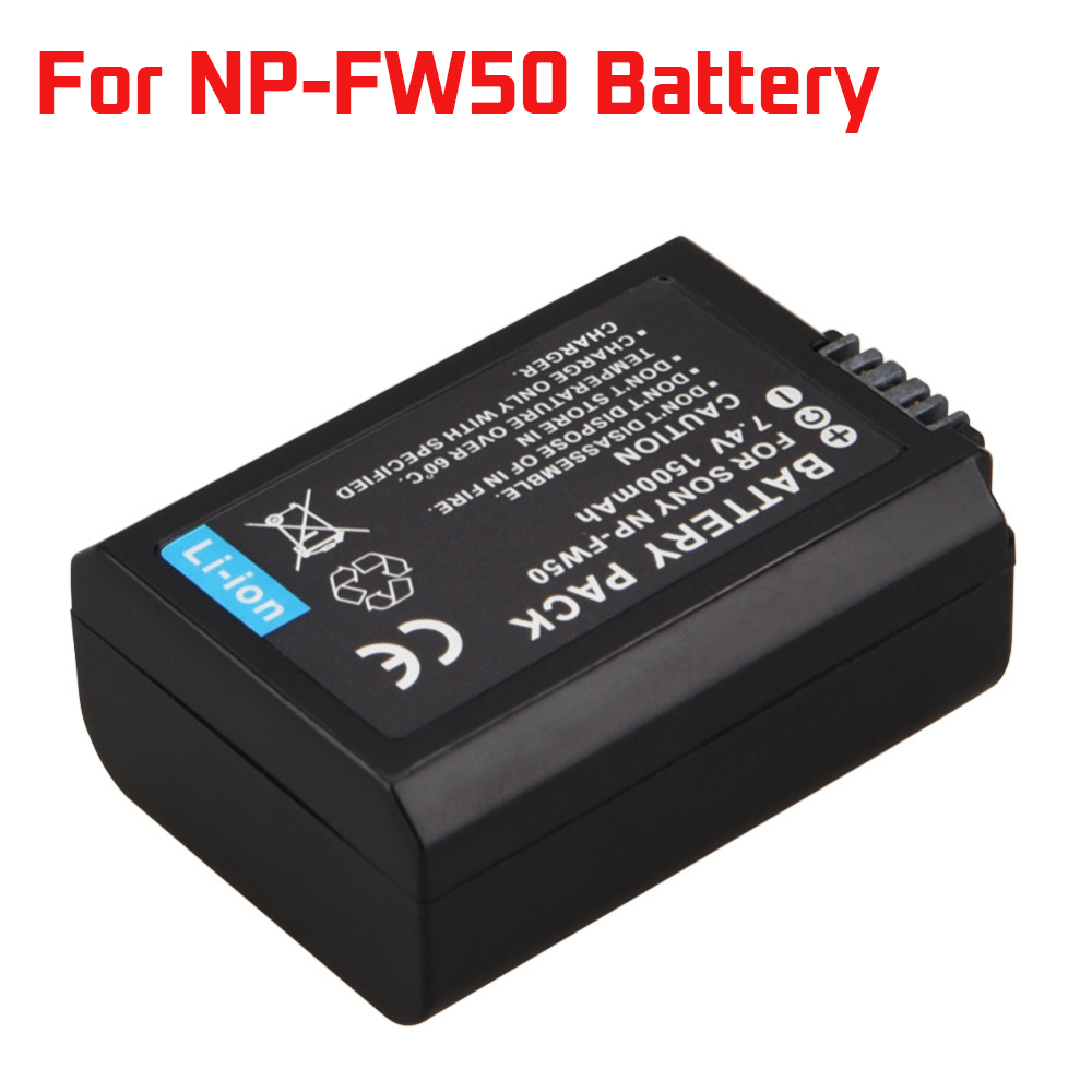 1Pcs 1500mAh NP-FW50 NP FW50 NPFW50 Battery For Sony Alpha 7 A7 7R A7R 7S A7S A3000 A5000 A6000 NEX-5N 5C A55 Camera Battery