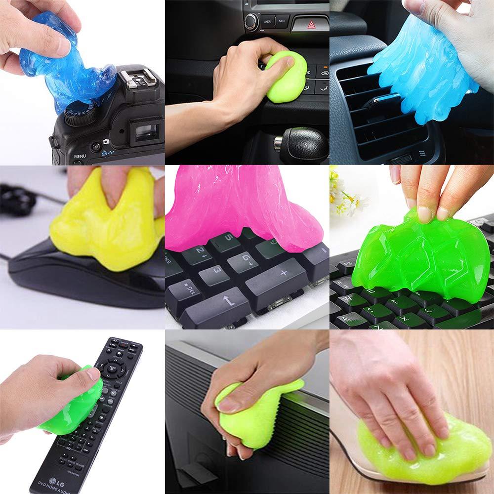 Novela 10 piezas limpieza de polvo Gel limpia chicle Super suave pegajoso limpiador para el teclado del teléfono envío