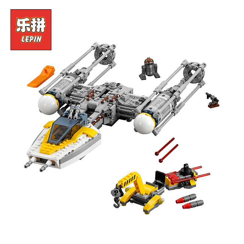 New Lepin 05065 Star Wars Stunning The Y-wing Starfighter Building Blocks Bricks Educational Boy Toys Model LegoINGlys 75172 lepin 05040 star wars y wing attack starfighter model building kits blocks brick toys compatiable with lego kid gift set