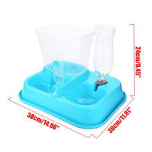 2 in 1 Automatic Dog Feeder Pet Dog Cat Food Feeder Water Station Bowl Plastic Dish Food Beverage Dispenser Portable 4 Colors