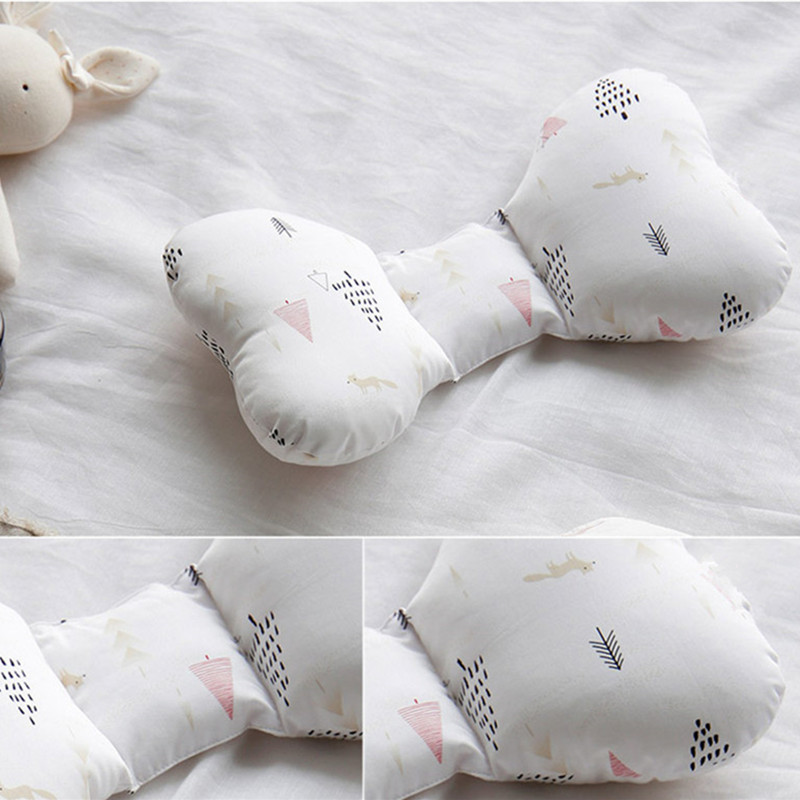 Anti Roll Baby Pillow Support To Prevent Flat Head Neck For Newborn With Memory Foam Cushion 15