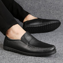 897a43e7546 2018 New Genuine leather Mens Loafers Fashion Handmade Moccasins Soft Leather  Slip On Men s Boat Shoe
