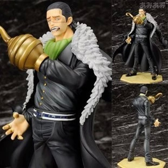 26cm Sir Crocodile One Piece Anime Collectible Action Figure PVC Collection toys for christmas gift B312 anime one piece arrogance sir crocodile model garage kit pvc action figure classic collection toy doll