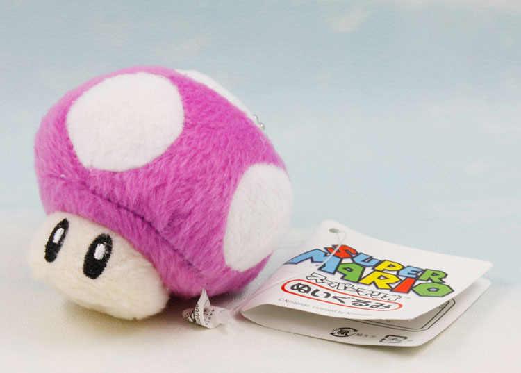 10 шт./лот 7 см Супер Марио Плюшевые игрушки грибы куклы маленький кулон Бесплатная доставка