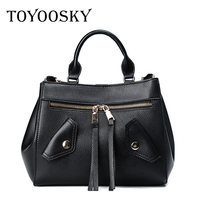 TOYOOSKY 2017 New Designer Women Leather Handbags Large Capacity Clothing Shoulder Bag Ladies Jacket Tote Bags