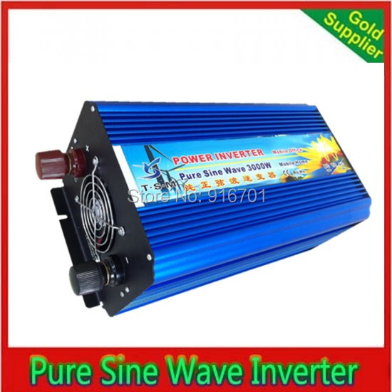 Surge Power 6000W 3000W 48V DC to 120V AC 60HZ digital display Pure Sine Wave Power Inverter,Power Supply