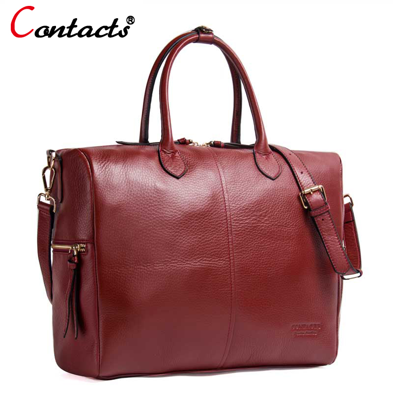 Contact's Genuine Leather Women Bags Female Shoulder Bag Luxury Handbags Women Bags Designer Leather Handbag Tote Messenger Bags 1pair iron shoe rack flip frame 2 layers option black color hidden hinge