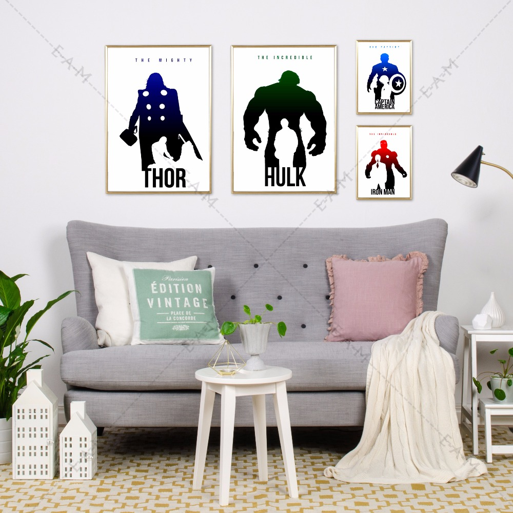 AVENGERS Photo Print print on Framed Canvas Wall Art Home kids room Decoration