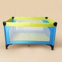 Для новорожденных Портативный складная детская кровать для игр тележка одежда для малышей Площадь игра Cot путешествия сетка от комаров для