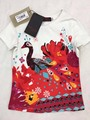 24 Color Catimidi Girls Sequins the peacock print T-shirt  Children's tee tops Wholesale 2017