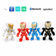 Portable Mini Bluetooth Speakers For Iron Man Wireless Smart Hands Free Speaker Support radio SD Card For Mobile Phone