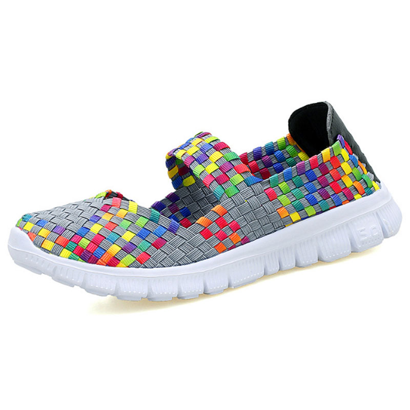 Fashion Spring Mixed Colors Summer Women Vulcanize Shoes Slip on Ladies Casual Shoes Female Leisure Footwear Flat Women  DC65 huanqiu white women vulcanize canvas shoes low breathable female solid color flat shoes casual candy colors leisure cloth shoes