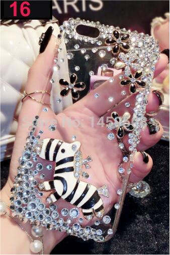 For HTC U11 Eyes case Handmade Rhinestone Case Diamond Crystal peacock Cover Flower Leopard Phone case - intl