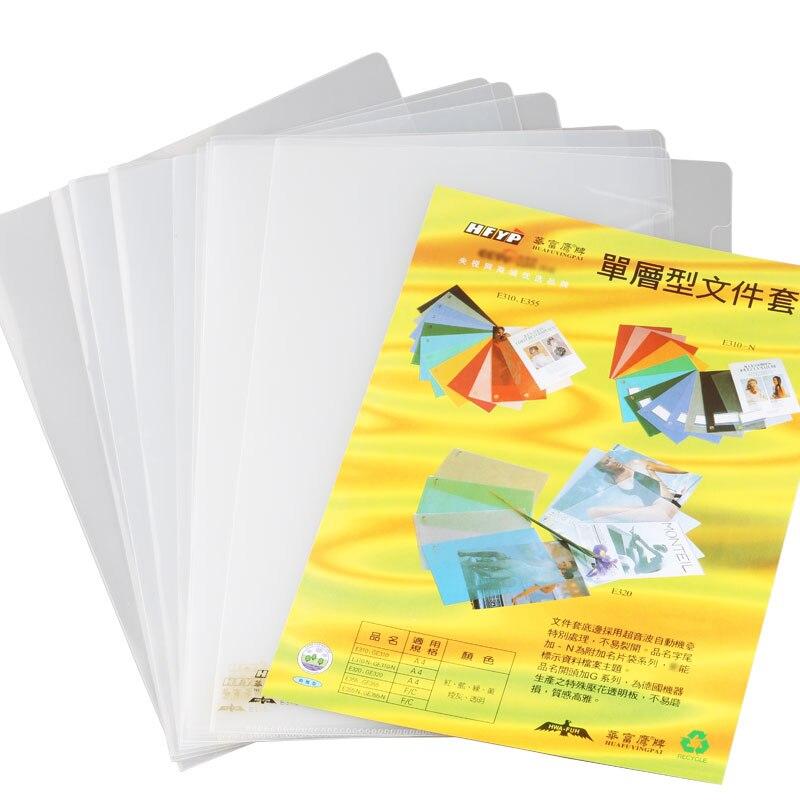 HFYP A4 10PCS/LOT Single Page Document File Folder Thickened Transparent Presentation E310