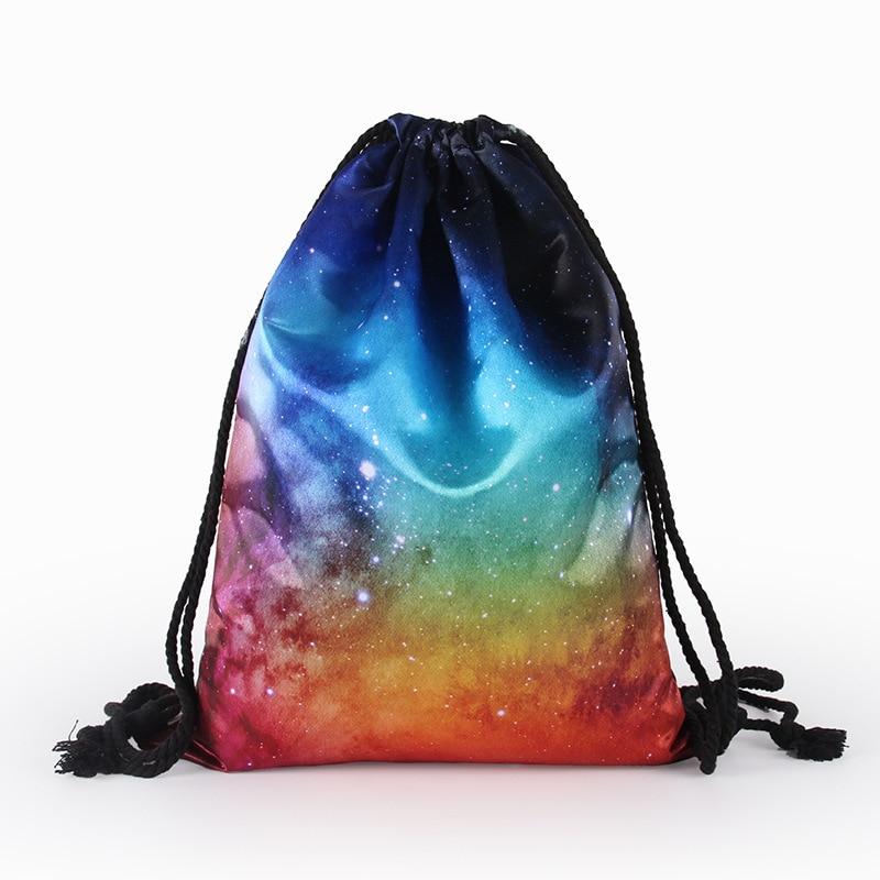 3D Star Pattern Drawstring Travel Bag Drawstring Backpack Women Men Daily Casual Girl's Knapsack Outdoor Travel Bags