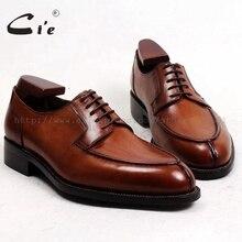 Cie/ ; мужские туфли дерби ручной работы на заказ из натуральной телячьей кожи; дышащие туфли на шнуровке; цвет коричневый; Goodyear; № D143