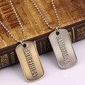 HF11852 Juego Battlefield 4 collar Carta Logo Etiqueta de Perro cadena de cuentas de metal Colgante collar Al Por Mayor Y Al Por Menor