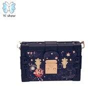 Women Box Bag Casual PU Shoulder Bag Phone Wallet Vintage Totes Fashion Crossbody Bag B 008