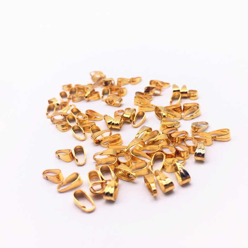 300 ชิ้น/ล็อต 3x7 มม.สร้อยคอจี้หัวเข็มขัด Clasp ตัวเชื่อมต่อ, คลิปหยิกประกันตัวจี้ DIY เครื่องประดับอุปกรณ์เสริม