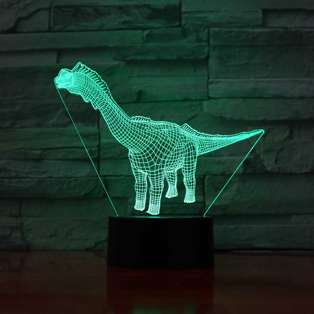 3D Dinosaur Modelling Desk Lamp 7 Colorful Changing Led Touch Button Night Light Usb Bedroom Baby Sleep Light Fixture Home Decor