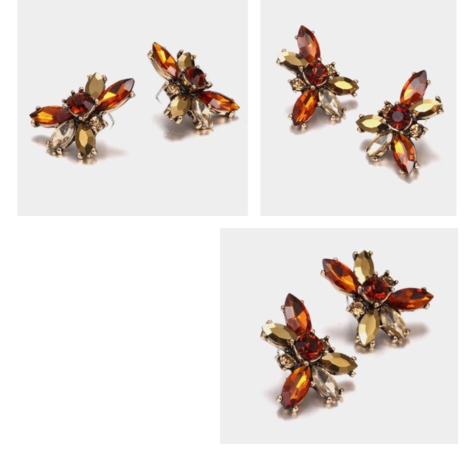 Lotus Red Rhinestone Dangle Women's Earrings