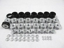 Mato metal road wheels and return rollers for 1/16 1:16 Henglong RC Panzer IV tank with rubber tyres toy rubber wheels
