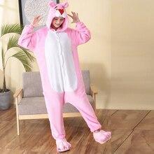 Hot Cartoon Kigurumi Pink Panther Woman Onesie Hooded Onesies For Adult One Piece Pajamas Long Sleeve