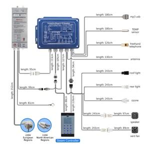 Image 5 - IPX5 Wasserdichte Wand Montiert Stil bluetooth Nass Dampfbad Sauna Spa Bad Generator 2,8 KW 110V/240V mit Dusche Controller