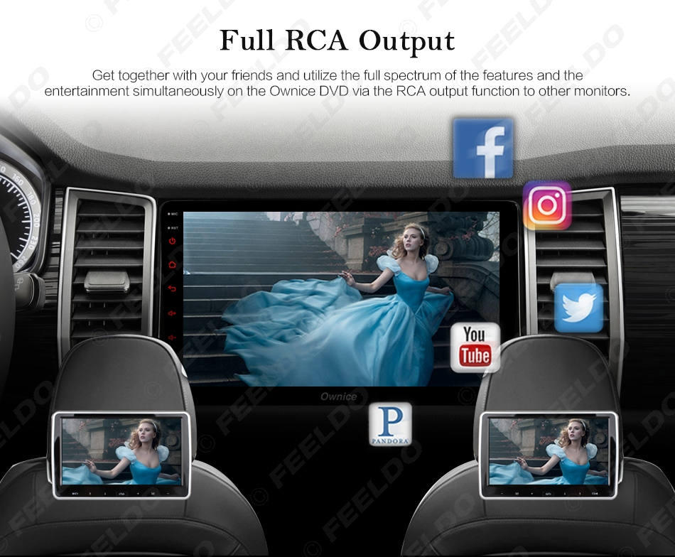 """Excellent FEELDO  10.1"""" Android 6.0 4-Core/DDR3 1G/16G/Support 4G Dongle Car Media Player With GPS/FM/AM RDS For Superb 2016 (Superb B8) 19"""