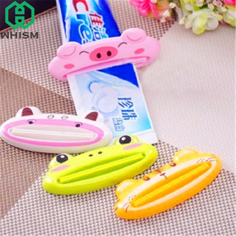 2PCS Bathroom Cream Tube Toothpaste Presser Dispenser Device Squeeze Seal Clip
