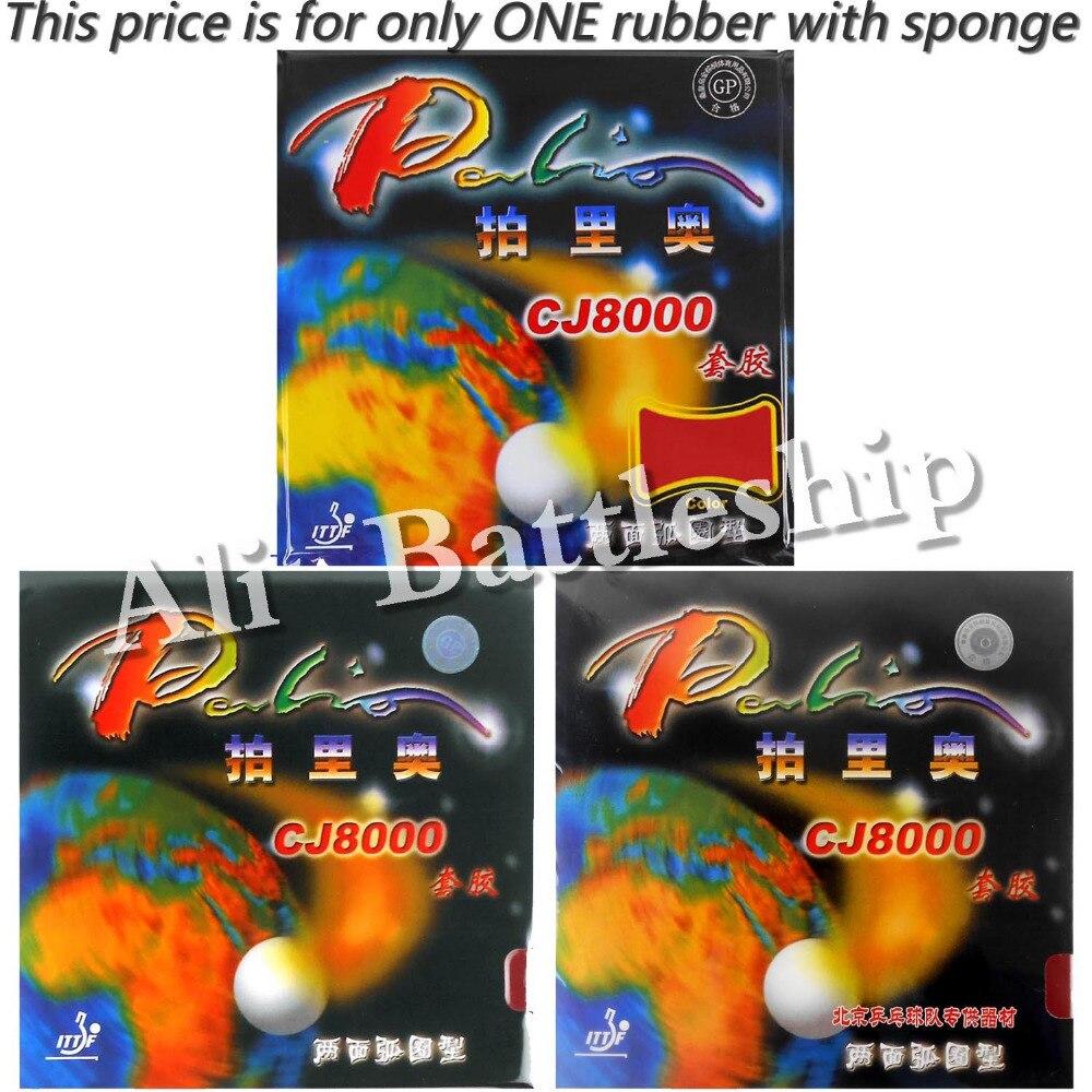 Original Palio CJ8000 (2-Seite Schleife Typ) pips-im tischtennis/pingpong gummi mit schwamm (H36-38)