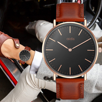 Top Quality Fashion Brand Men Women Genuine Leather Quartz Watch Waterproof Ultra Thin Casual Business DW