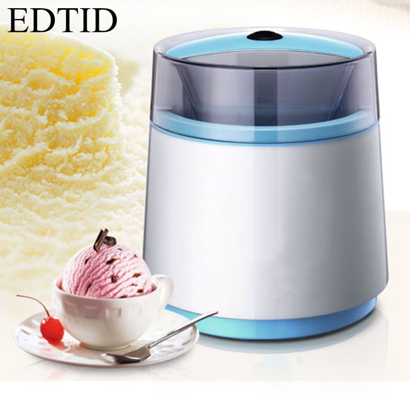 EDTID Household Full Automatic Fruit Ice Cream Machine Home Ice Cream Maker yoghurt dessert maker edtid portable automatic ice maker household bullet round ice make machine for family small bar coffee shop 220 240v 120w eu us