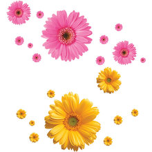 big sunflower wall stickers living room kitchen decorations removable wall sticker window home decor decals mural