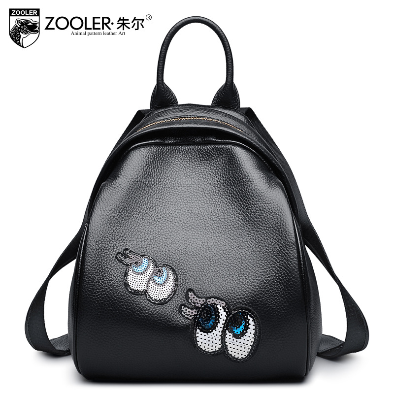 ZOOLER Genuine Leather Backpack Female 2018 New Small Casual Backpacks Real Cowhide Leather Mochila Masculina Cartoon School Bag 2016 new free shipping 100% real genuine cowhide leather women s backpacks brief ladies casual backpack girl school bag 3 color