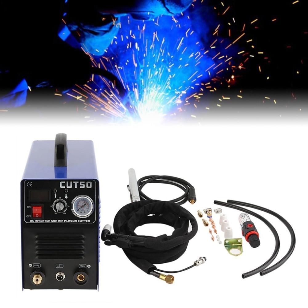 Professionale Elettrico Macchina di Taglio Plasma Ad Aria di Taglio Al Plasma Inverter Digitale CUT50 Con Torcia Al Plasma e Materiali di Consumo Vendita Calda