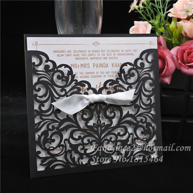 50pcs european classic paper laser cut wedding invitations cards 50pcs european classic paper laser cut wedding invitations cardscustomizable invitation event party supplies stopboris Gallery