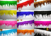 1 meter rooster feathers cloth sideband, DIY variety of colors sewing wedding dress / art clothing