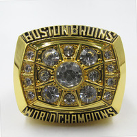 1972 Boston Bruins BORR Player Championship Ring Custom Big Size 11 Men Replica Ring Sport Jewelry