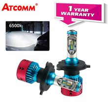 ATcomm H1 H7 LED Turbo Ice Car Bulb 16000Lm Auto Light H15 HIR2 9005/HB3 9006/HB4 12V 6500K 70W ZES Chip H11/H8/H9 Carro Lamp(China)