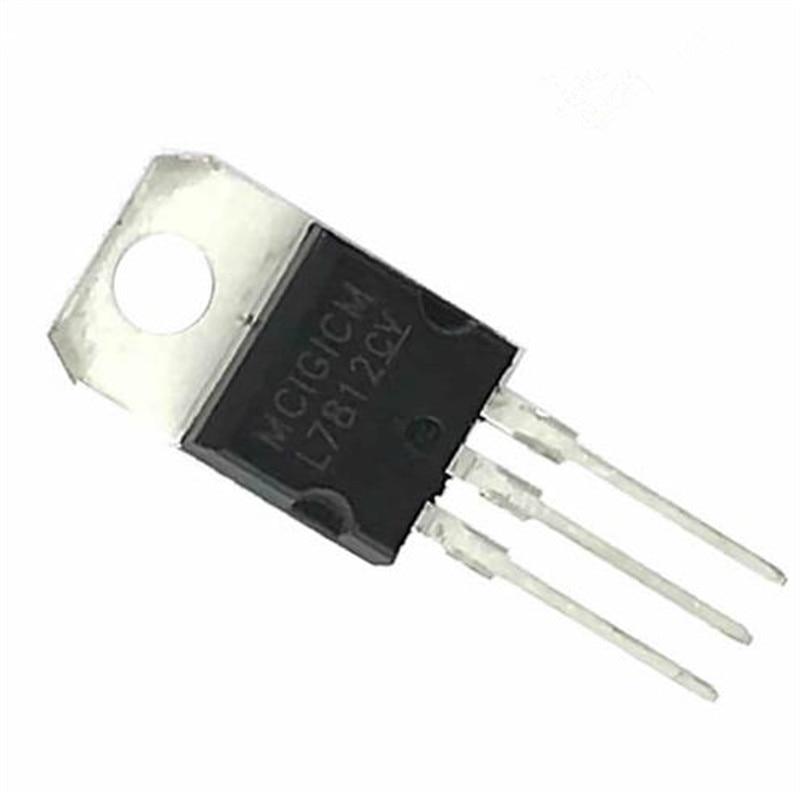 10Pcs L7812 L7812CV LM7812 TO-220 Voltage Regulator IC