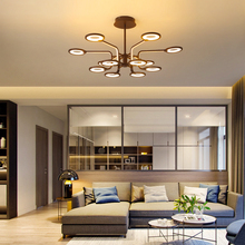 New Modern led chandelier For livingroom bedroom Nordic Chandelier lighting Brown Creative lustre moderno modern