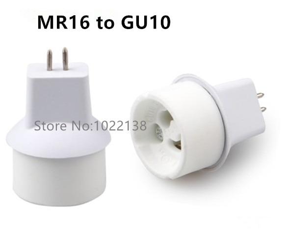 12pcs White Ceramics Mr16 To Gu10 Lamp Converter Adapter For Led Light Gu10 To Mr16 Socket Adapter