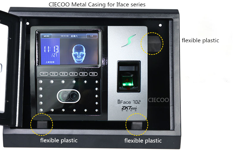 Metal Waterproof Casing for Biometric ZK Face recognition Iface302